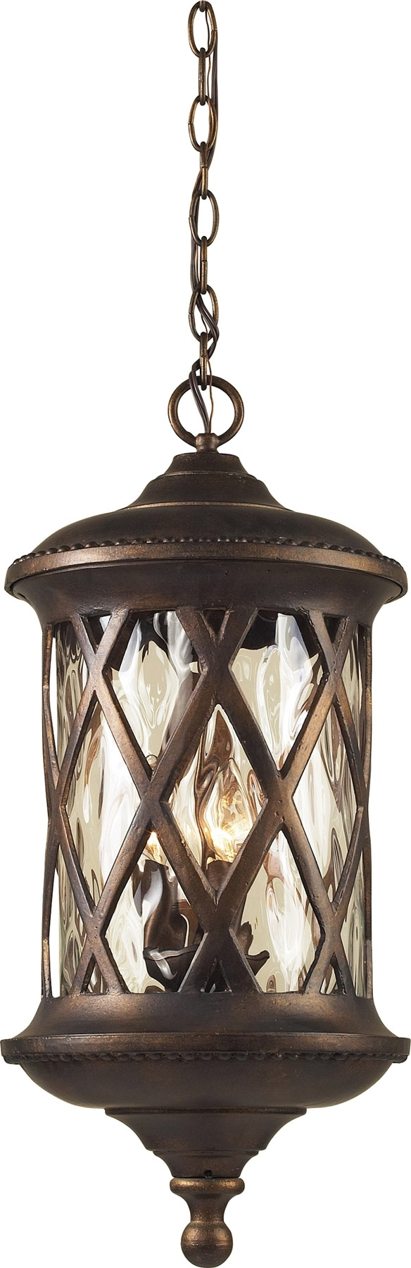 Best And Newest Lighting 42033/3 Barrington Gate Exterior Hanging Pendant Inside Traditional Outdoor Hanging Lights (View 12 of 20)