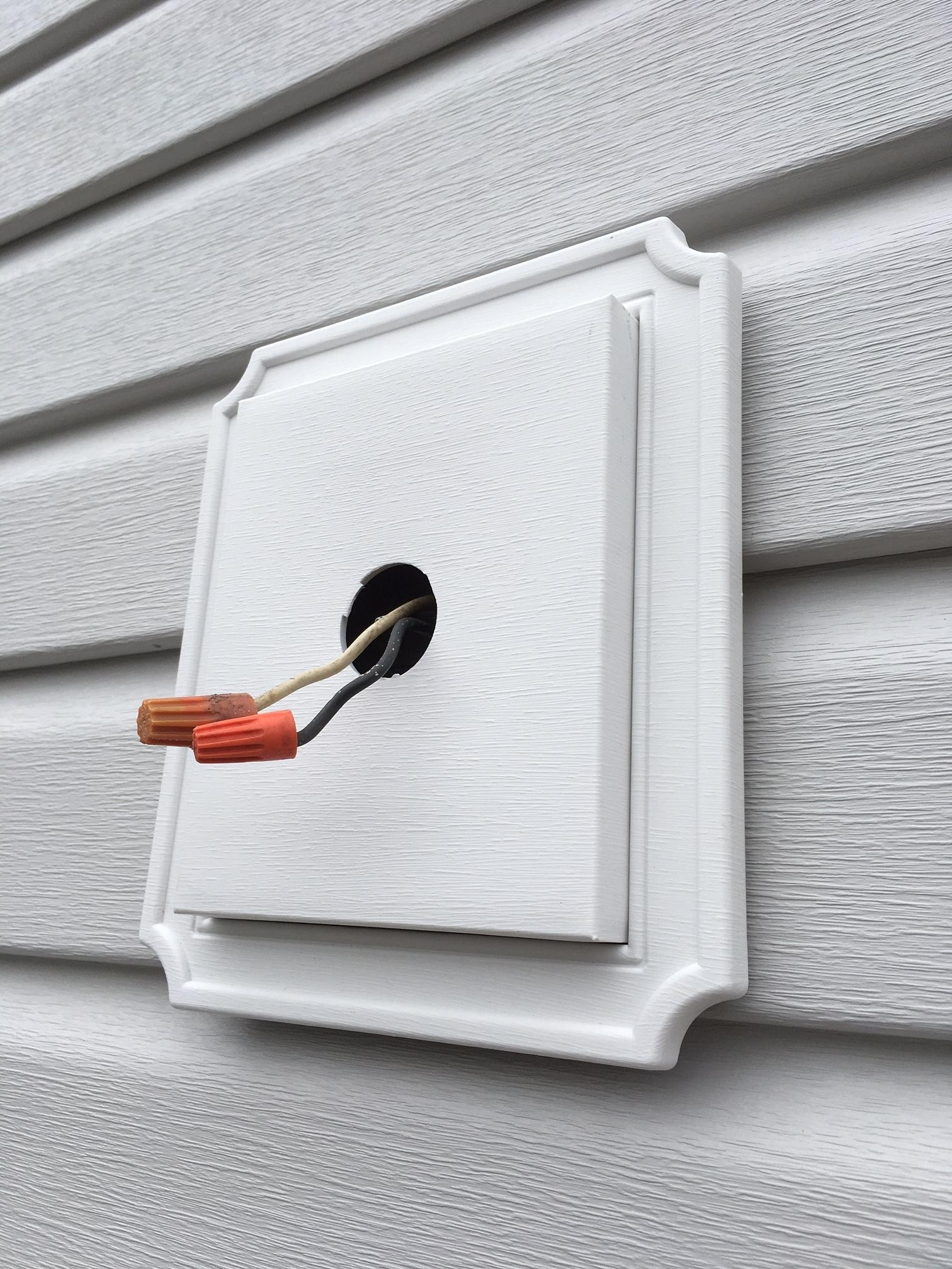 Best And Newest Lighting – Exterior Lights On New Siding, No Electrical Box To Screw With Hanging Outdoor Lights On Vinyl Siding (View 6 of 20)
