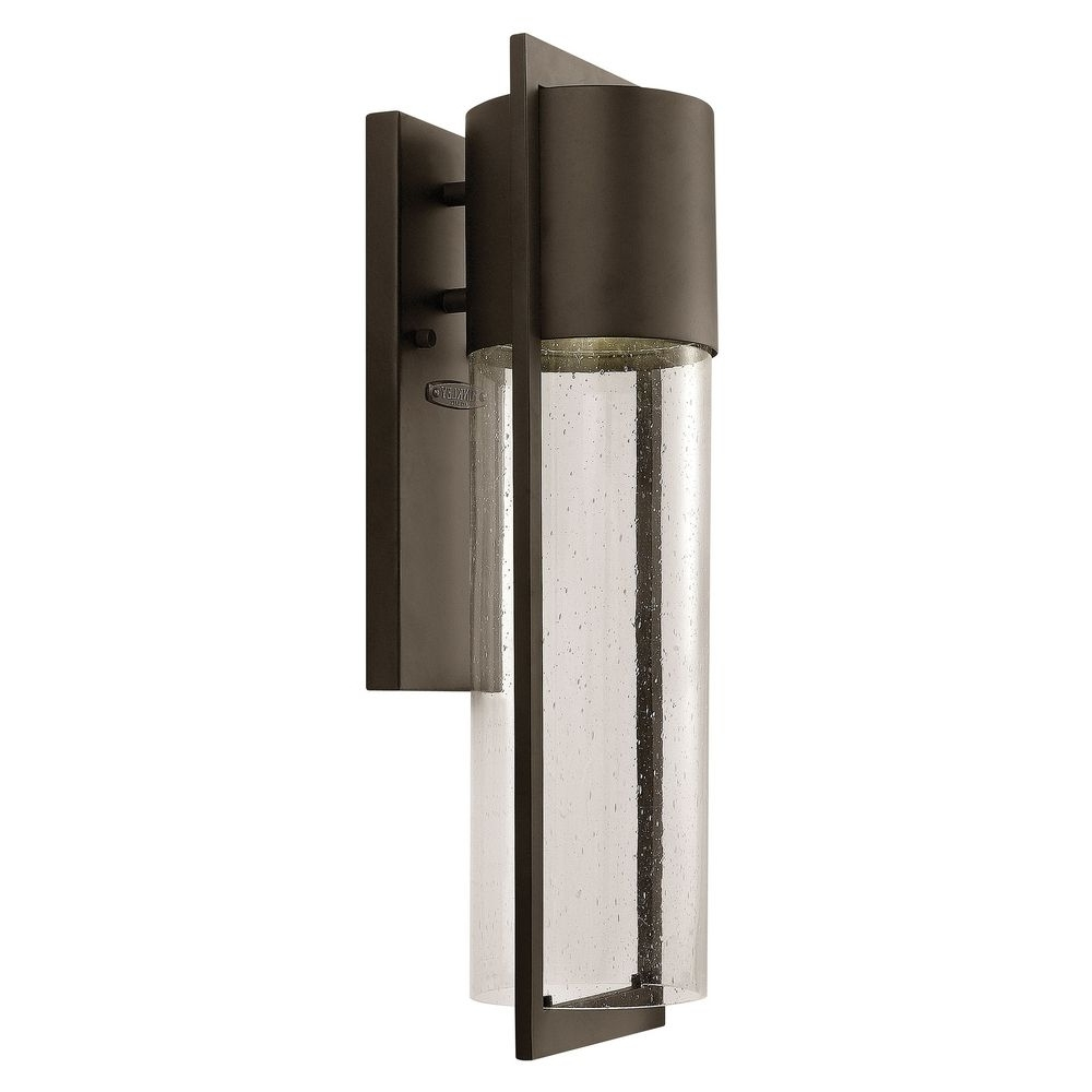 Best And Newest Modern Outdoor Wall Light Seeded Glass Bronze Hinkley Lighting With Modern Latern Hinkley Lighting (View 2 of 20)