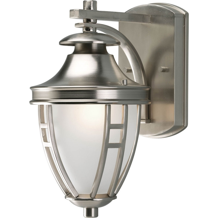Best And Newest Nickel Outdoor Wall Lighting Intended For Shop Progress Lighting Fairview  (View 3 of 20)