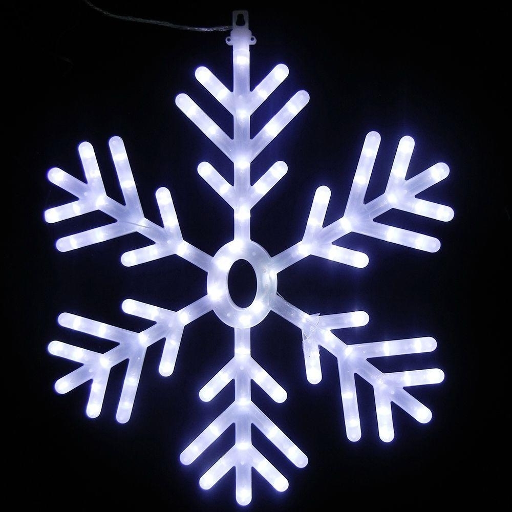 Best And Newest Outdoor Hanging Snowflake Lights Intended For Led – Snowflake – Christmas Lights – Christmas Decorations – The (Gallery 9 of 20)