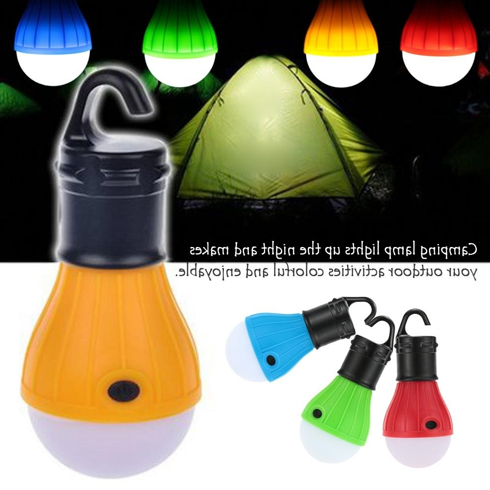Best And Newest Portable Outdoor Hanging Tent Camping Lamp Soft Light Led Bulb For Outdoor Hanging Plastic Lanterns (View 4 of 20)