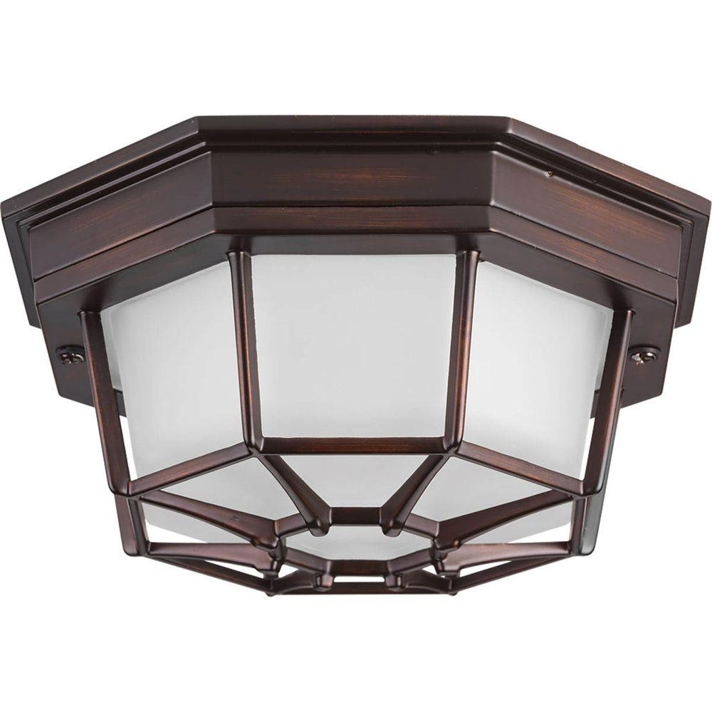 Best And Newest Progress Lighting Milford Led Collection 1 Light Antique Bronze Led Within Outdoor Ceiling Mounted Lights (View 11 of 20)