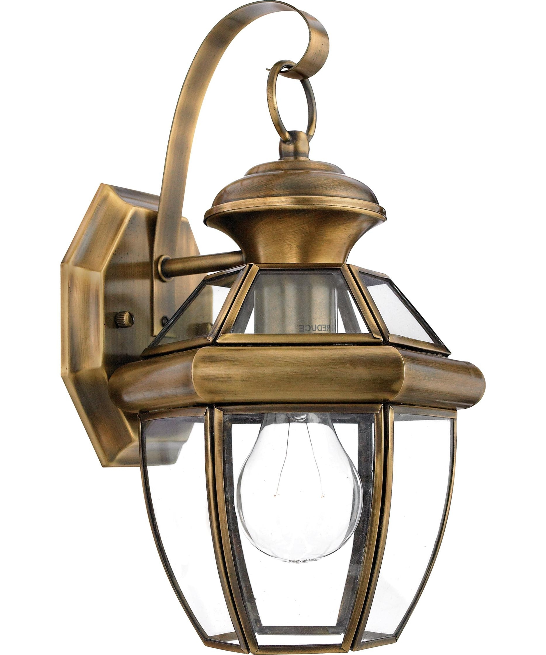 Best And Newest Quoizel Ny8315 Newbury 7 Inch Wide 1 Light Outdoor Wall Light Intended For Antique Brass Outdoor Lighting (View 5 of 20)