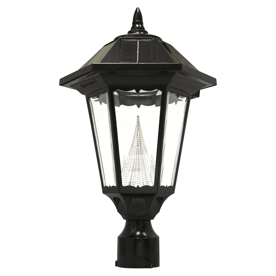 Best And Newest Shop Gama Sonic Windsor 20 In H Black Solar Led Post Light At Lowes Pertaining To Lowes Solar Garden Lights Fixtures (View 3 of 20)