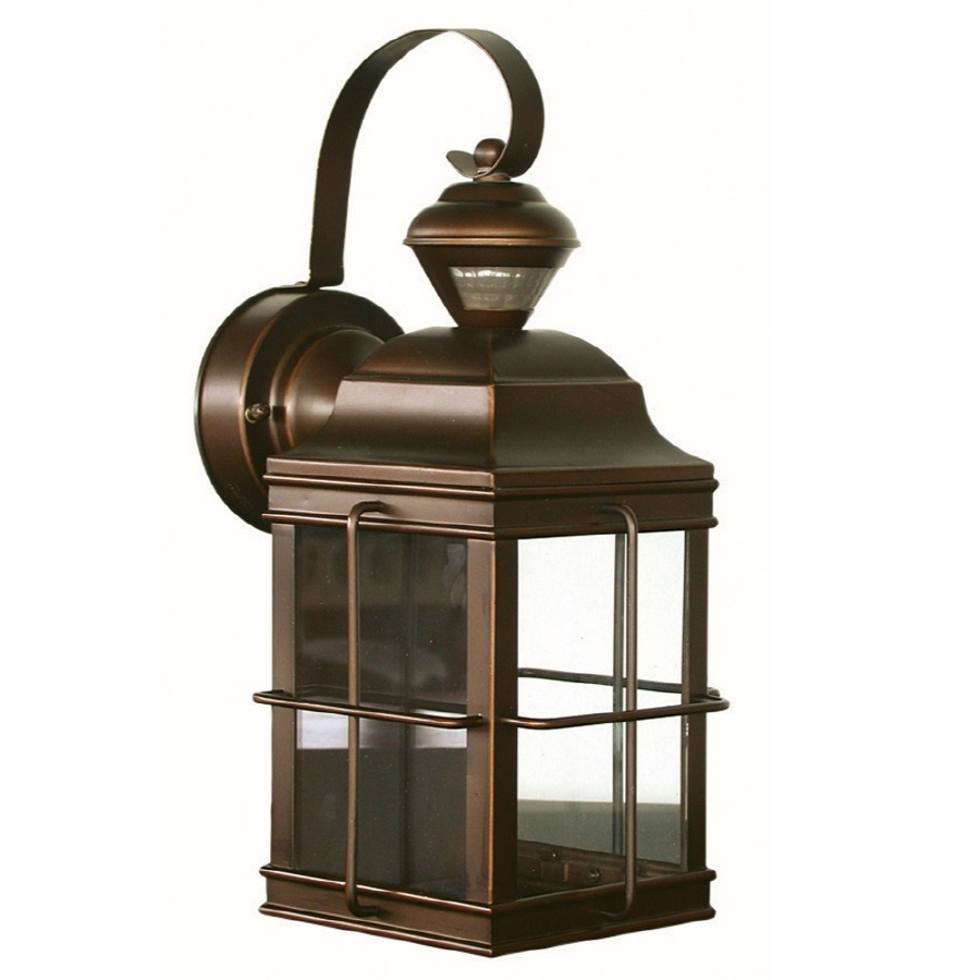 Best And Newest Shop Secure Home New England Carriage 14.75 In H Antique Bronze For Outdoor Wall Lantern Lights (Gallery 17 of 20)