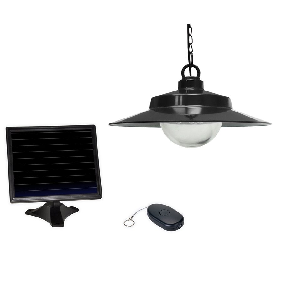 Best And Newest Shop Sunforce 5.31 In Black Solar Outdoor Pendant Light At Lowes Within Outdoor Hanging Lights At Lowes (Gallery 9 of 20)