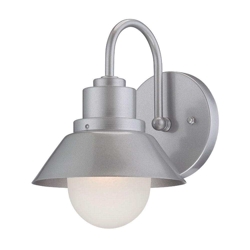 Best And Newest Silver Outdoor Wall Lights Intended For Acclaim Lighting Astro 1 Light Brushed Silver Wall Light 4712bs (View 11 of 20)