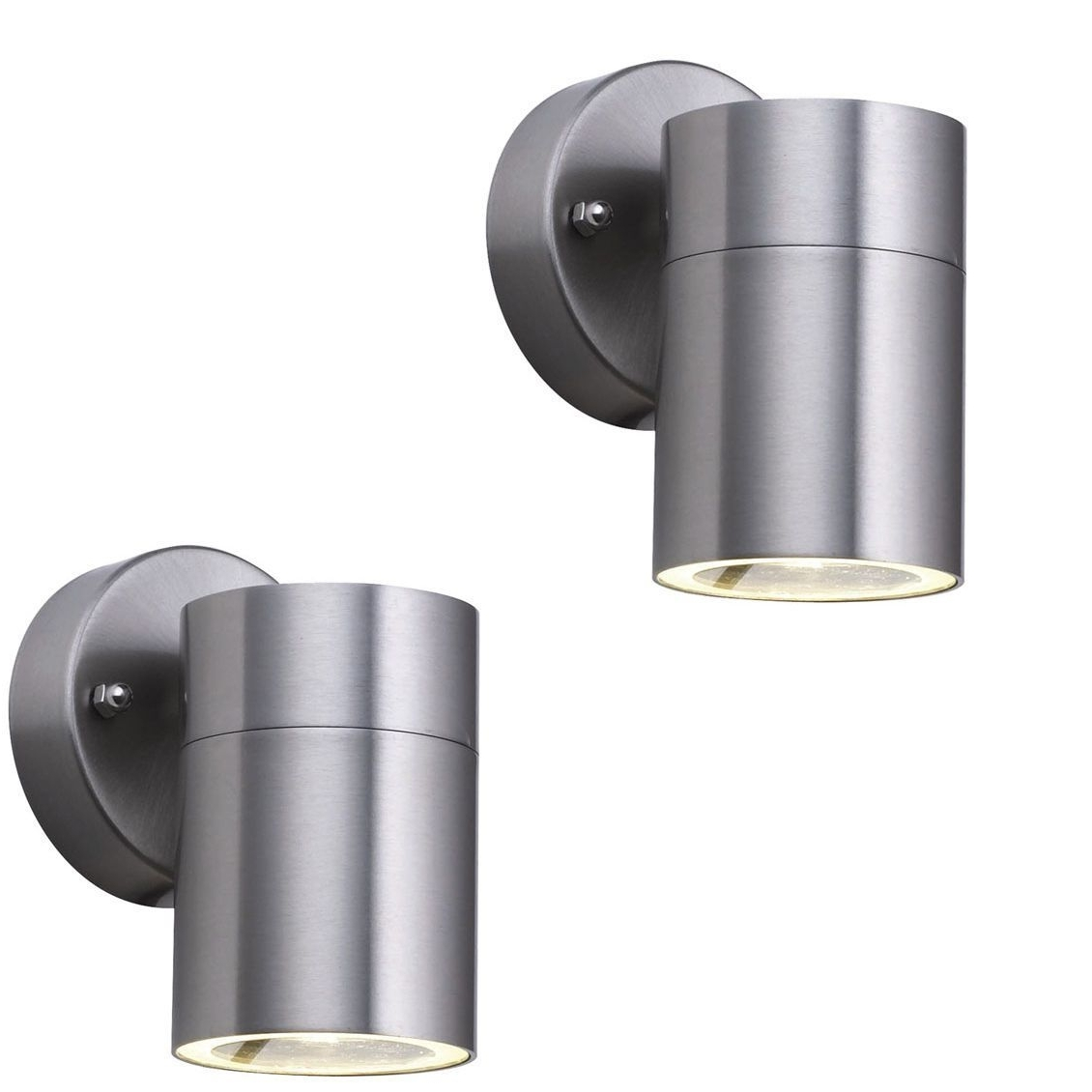 Best And Newest Stainless Steel Outdoor Wall Lights Inside Pair Searchlight 5008 1 Led Stainless Steel Halogen Downlight (View 2 of 20)