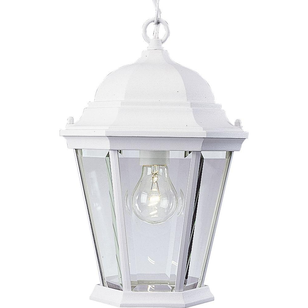 Best And Newest White Outdoor Hanging Lanterns Regarding Progress Lighting Welbourne Collection Textured White Outdoor (View 5 of 20)