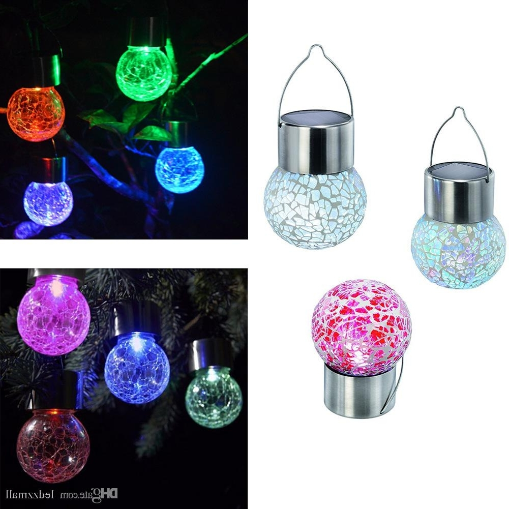 Best Solar Battery Operated Led Ball Light Colour Chaning Led For Most Recent Outdoor Hanging Lights With Battery (Gallery 9 of 20)