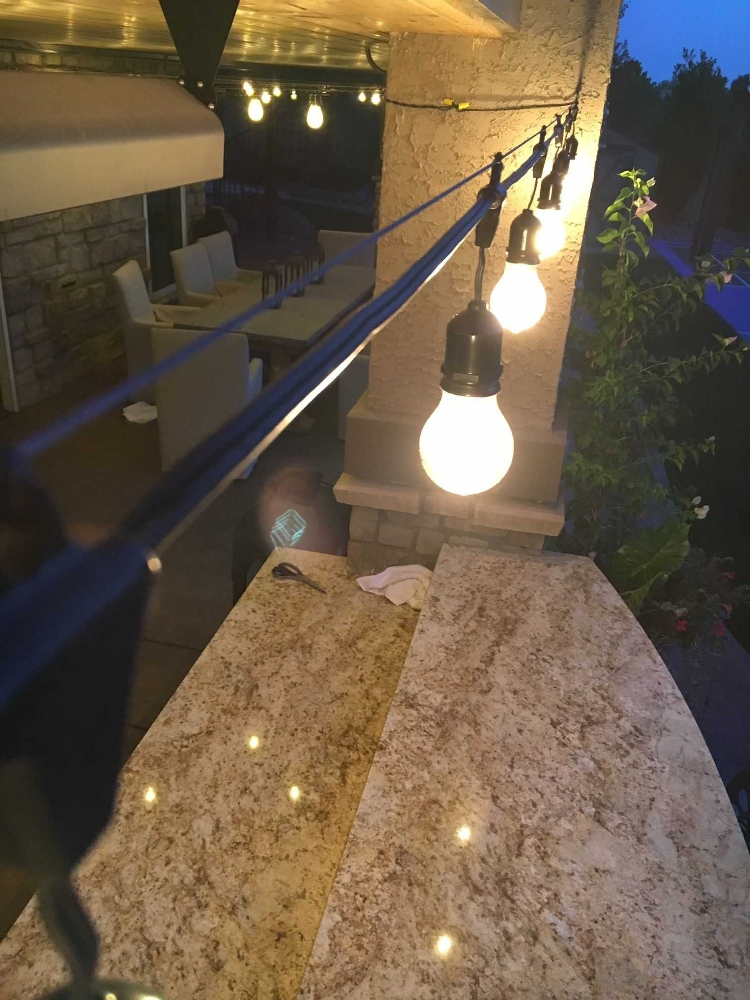 Best Way Hang Outdoor String Lights On Stucco 2018 And Awesome In 2019 Hanging Outdoor Lights On Stucco (Gallery 10 of 20)