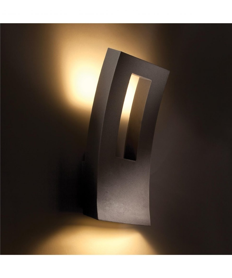 Black Contemporary Outdoor Wall Lighting Regarding Famous Outdoor : Contemporary Outdoor Security Lighting Stainless Wall (View 4 of 20)