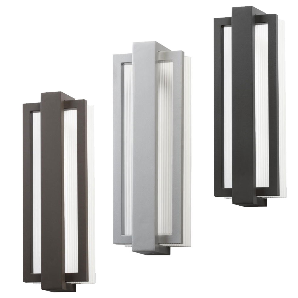 "Black Contemporary Outdoor Wall Lighting With Popular Kichler 49434 Sedo Contemporary 6"" Wide Led Outdoor Wall Sconce (Gallery 6 of 20)"