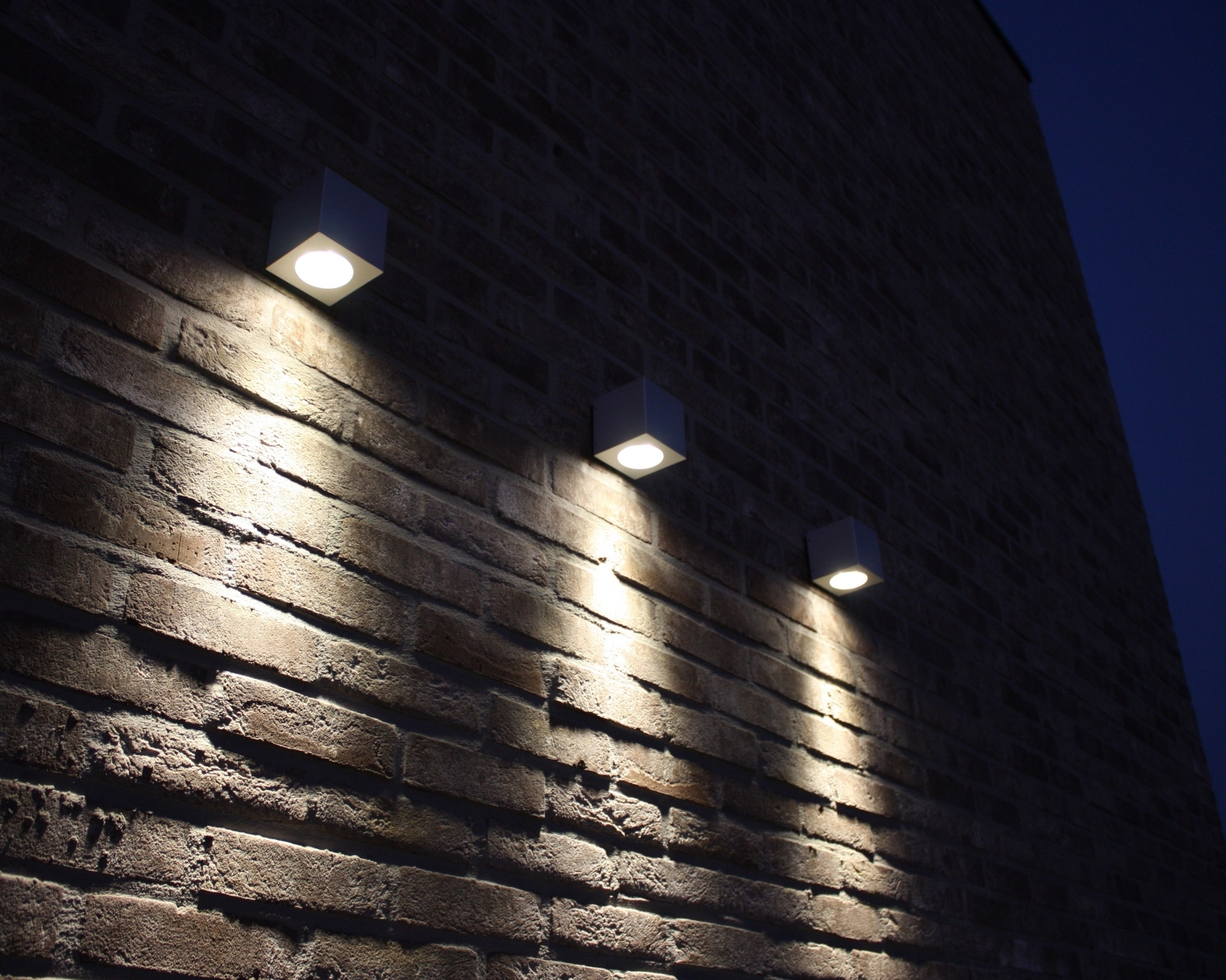 Black Outdoor Led Wall Lights Pertaining To Favorite Outdoor Wall Mounted Led Lighting For Red Exposed Brick Wall Ideas (View 7 of 20)