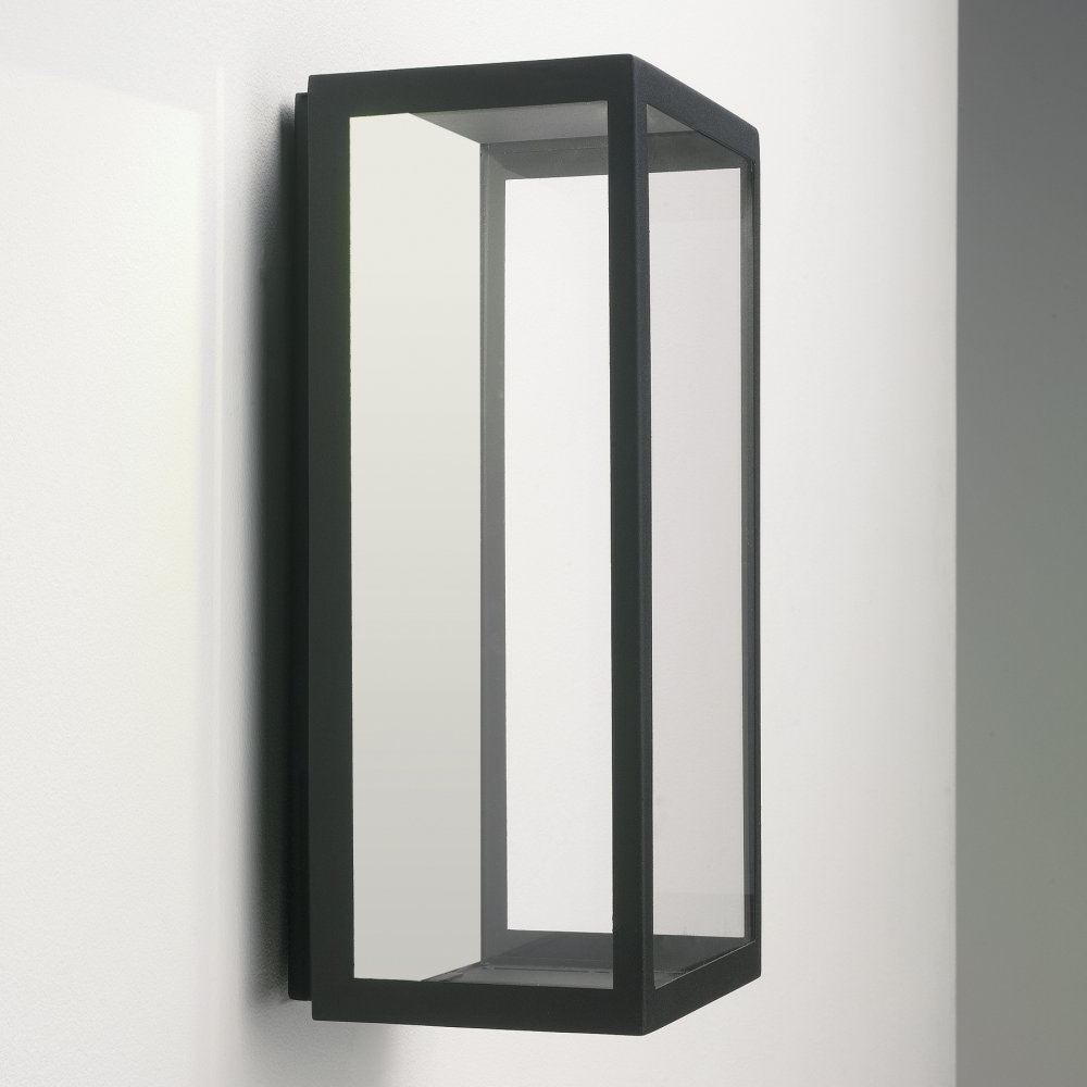 Black Outdoor Led Wall Lights Regarding Famous Astro Lighting Puzzle 0931 Black Outdoor Wall Light (View 8 of 20)
