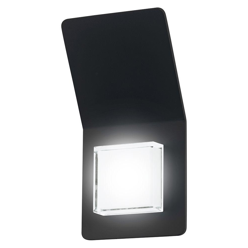 Black Outdoor Led Wall Lights Regarding Widely Used Eglo Pias 2 Light Black Outdoor Integrated Led Wall Light 200877A (View 9 of 20)