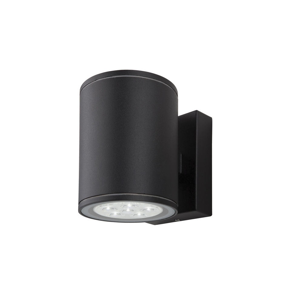 Black Outdoor Wall Lighting Pertaining To Fashionable Firstlight 8085 Vegas Led 2 Light Exterior Wall Light In Black (View 5 of 20)