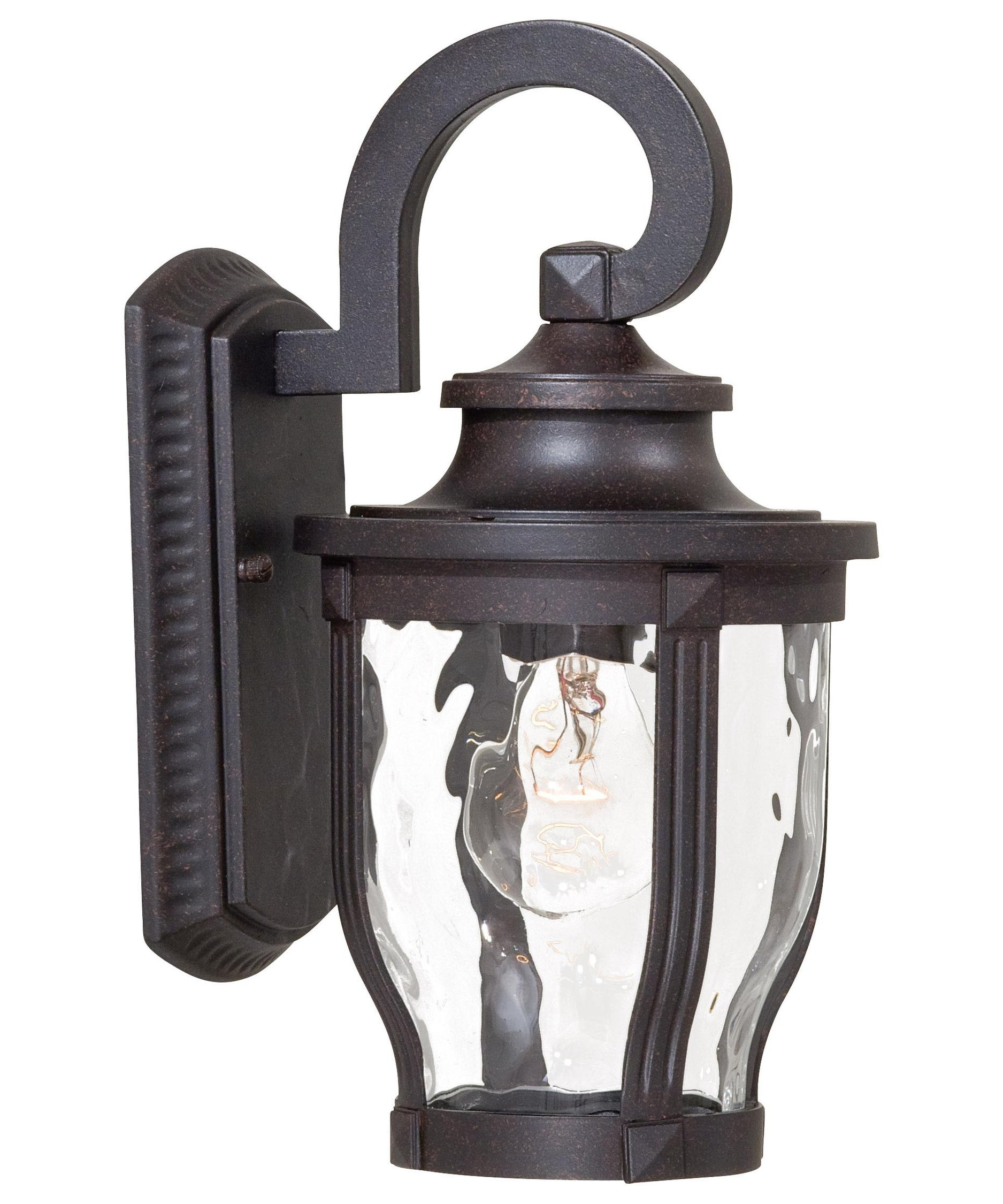 Black Outdoor Wall Lighting Pertaining To Popular Minka Lavery 8761 Merrimack 6 Inch Wide 1 Light Outdoor Wall Light (View 7 of 20)