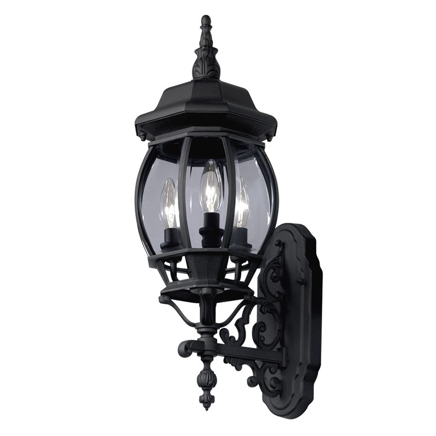 Black Outdoor Wall Lighting Throughout Widely Used Shop Outdoor Wall Lights At Lowes (View 11 of 20)