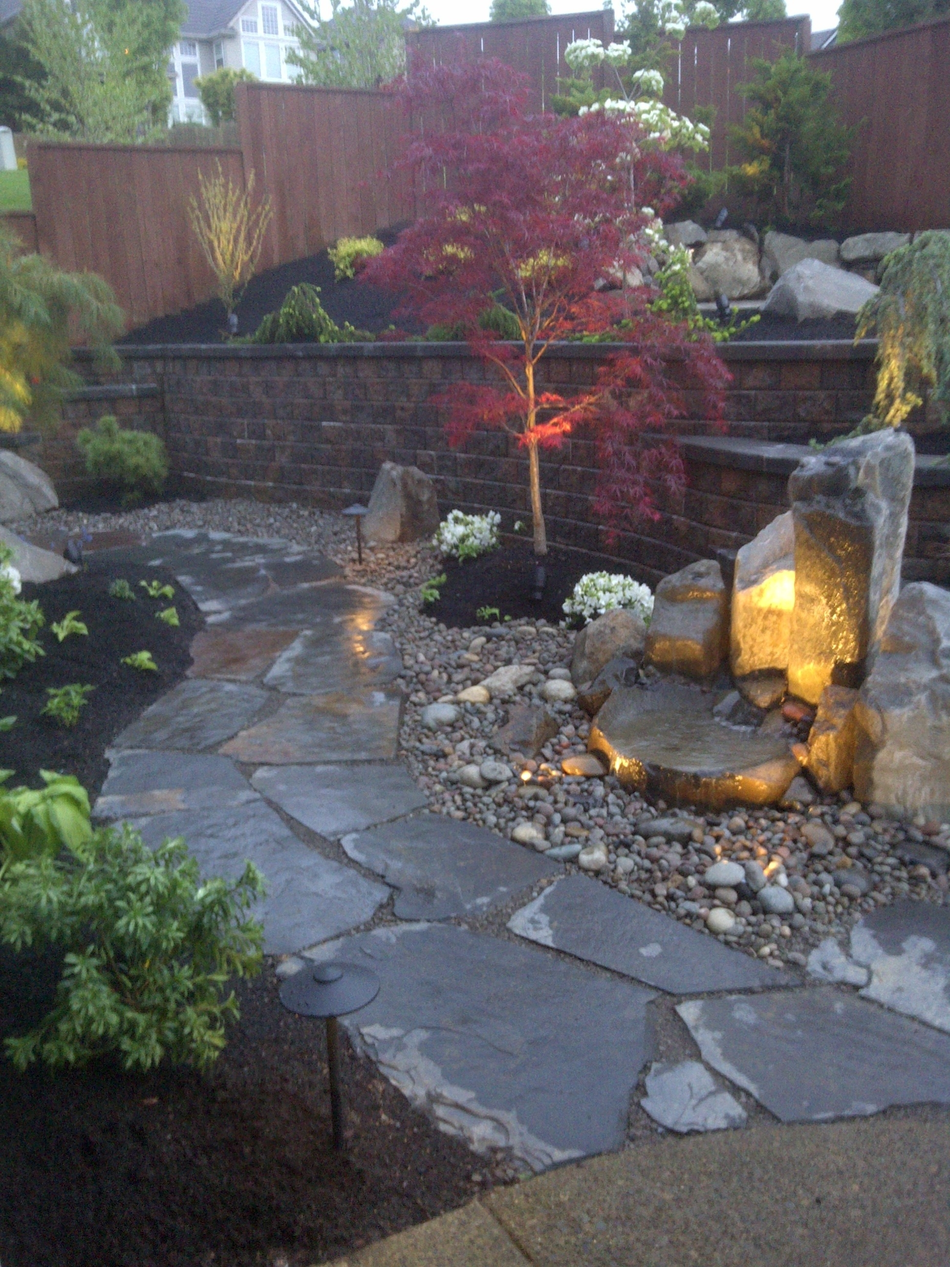 Block Walls Concrete Retaining In Vancouver Wa Pertaining To Cur Outdoor Wall Lighting