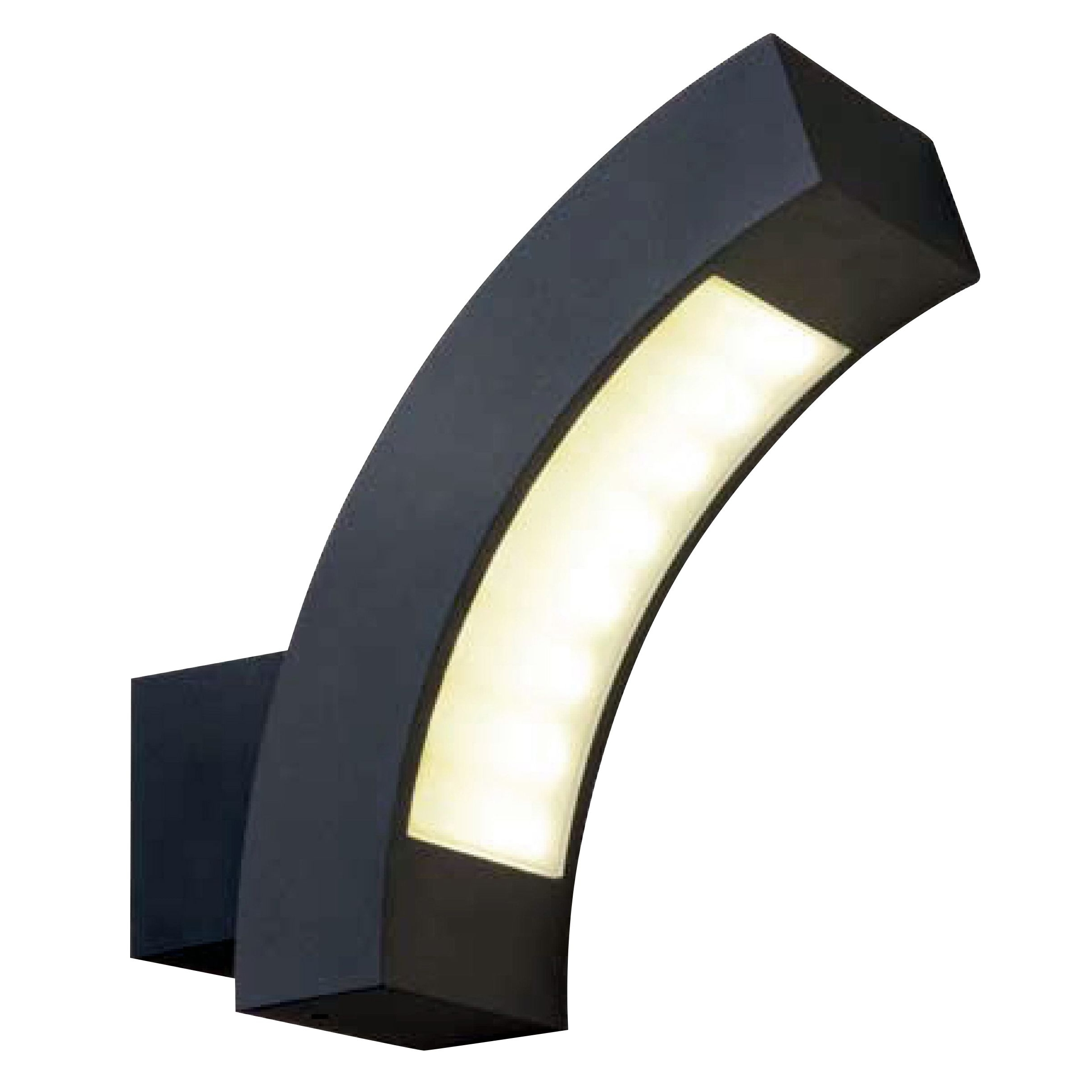 Blooma Ross Charcoal Mains Powered External Wall Light (View 10 of 20)