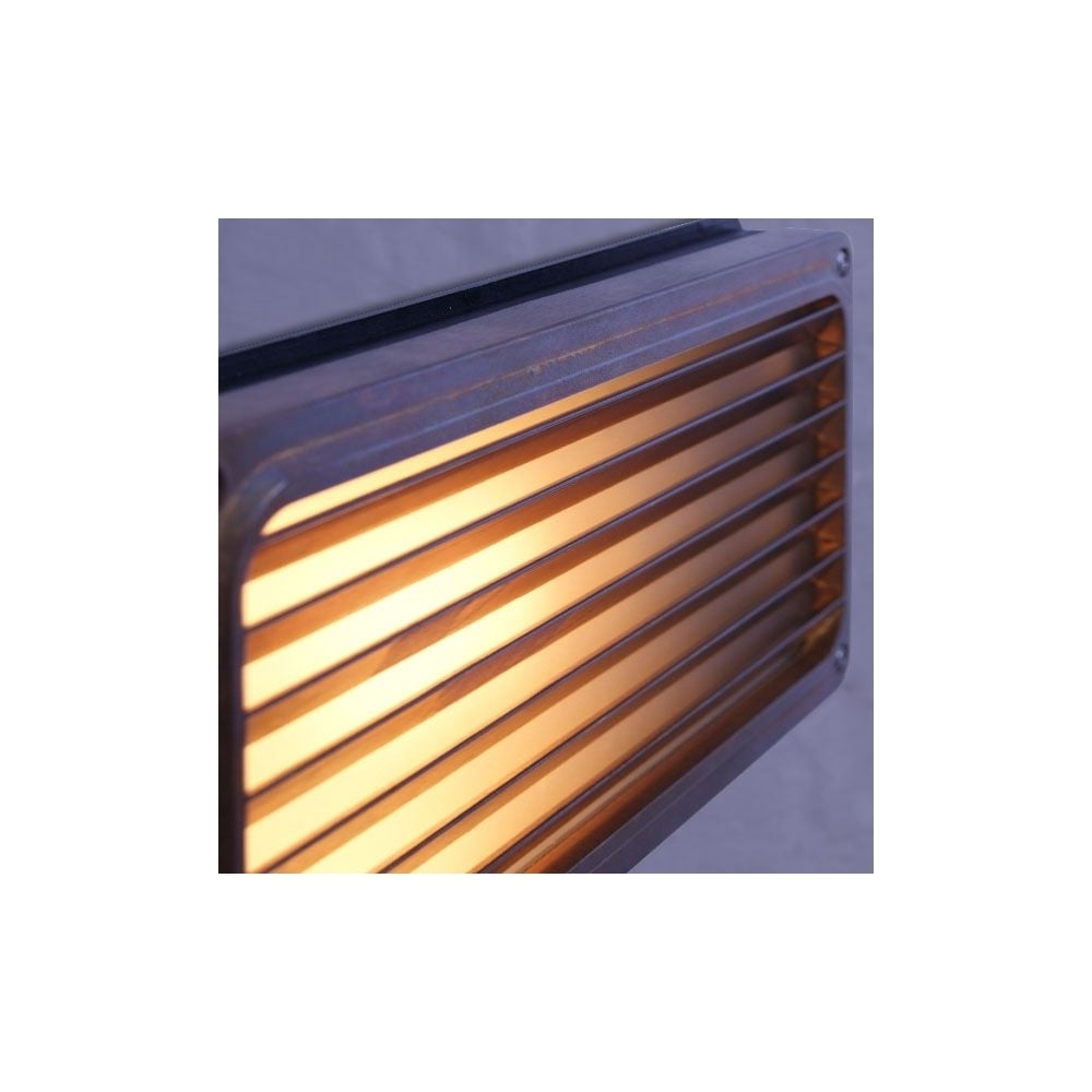 Brass Recessed Grill Wall Light Outdoor – Lighting And Lights Uk Intended For Most Popular Recessed Outdoor Wall Lighting (View 2 of 20)