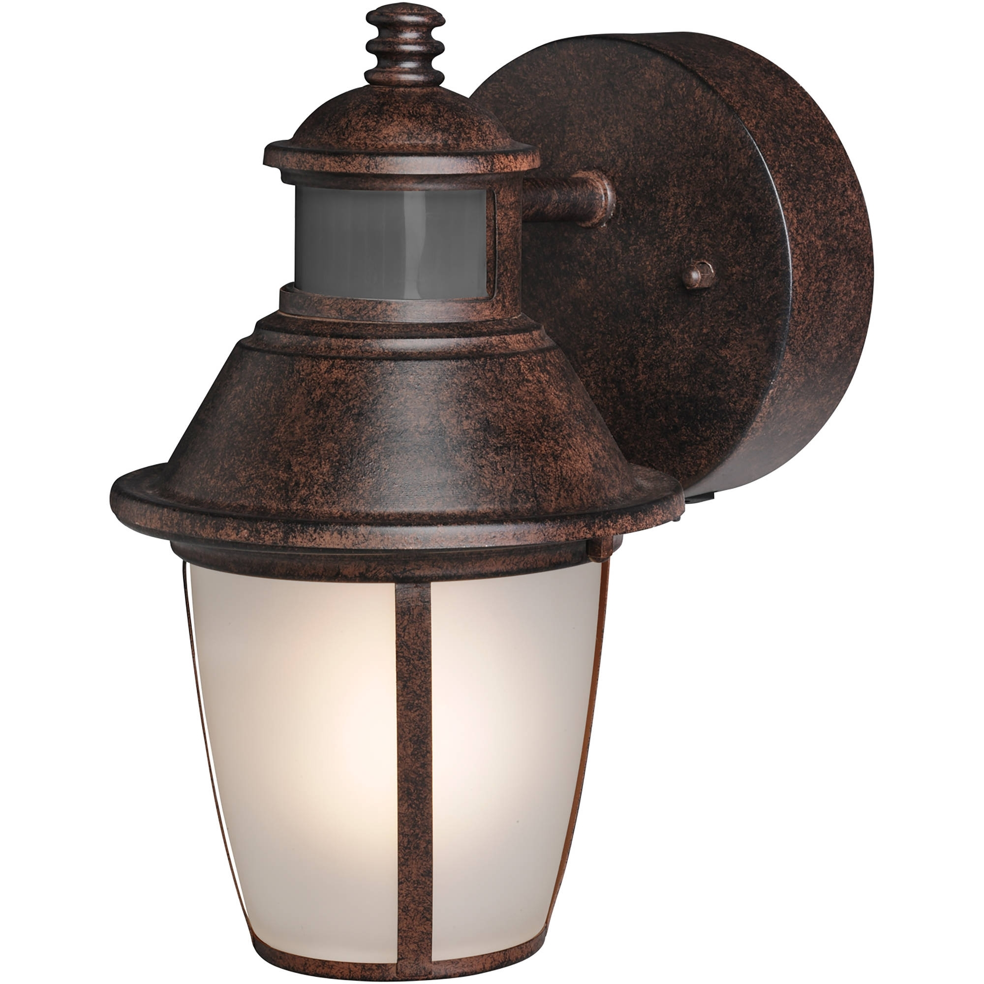 Brink's Led Outdoor Wall Lantern Motion Security Light, Bronze With Most Recent Dusk To Dawn Led Outdoor Wall Lights (Gallery 20 of 20)