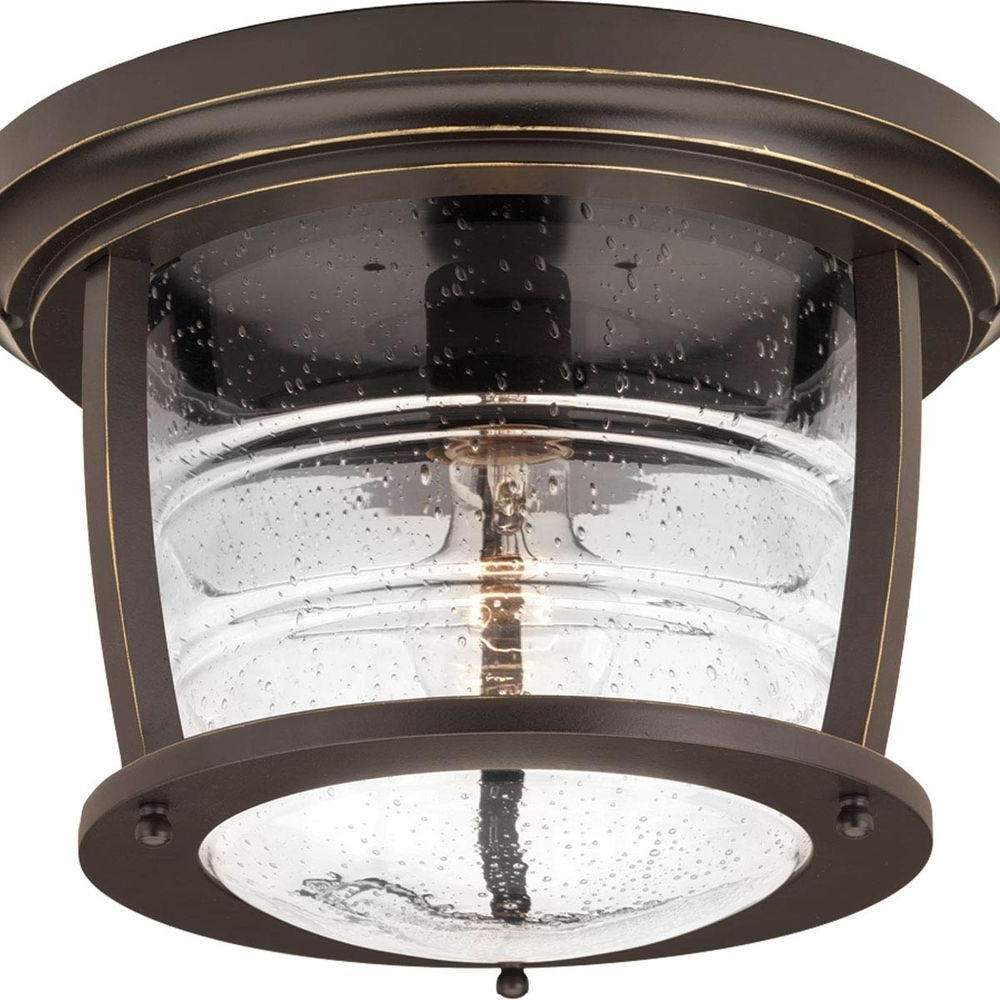 Bronze Outdoor Ceiling Lights Throughout Famous Progress Lighting Signal Bay Collection 1 Light Oil Rubbed Bronze (View 5 of 20)