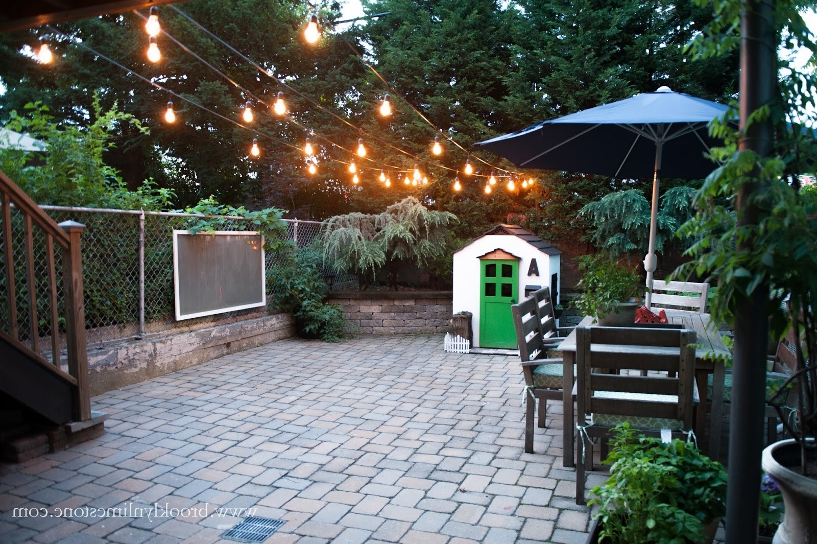 Brooklyn Limestone Regarding Most Recently Released Garden And Outdoor String Lights (View 2 of 20)
