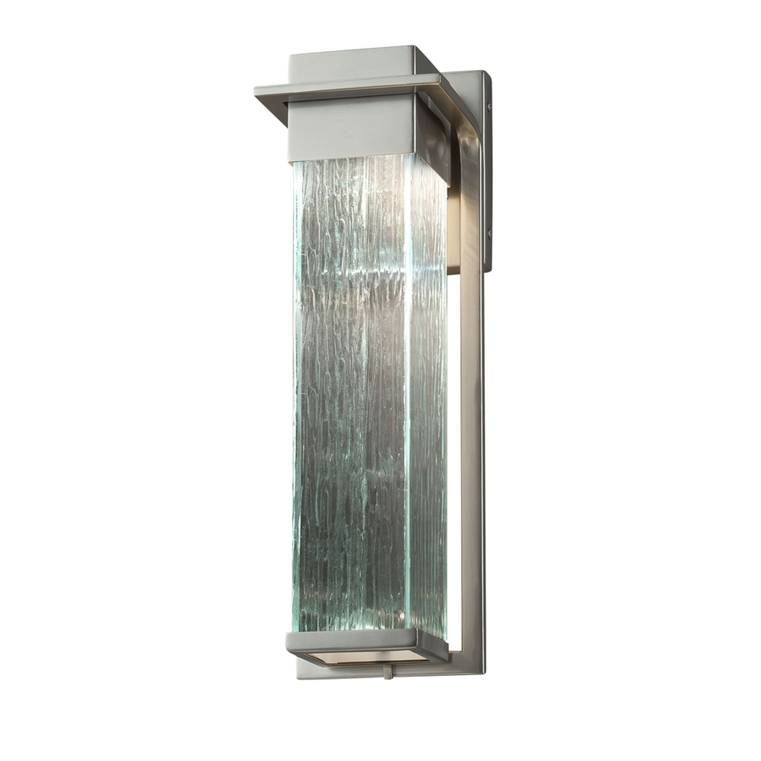 Brushed Nickel Outdoor Ceiling Lights With Well Known Fusion Pacific Brushed Nickel Led Outdoor Wall Sconce With Rain (View 6 of 20)