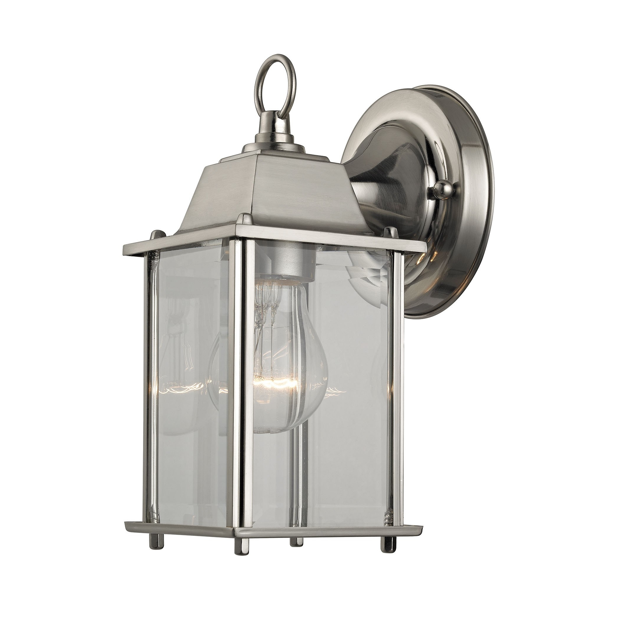 Brushed Nickel Outdoor Wall Lighting Regarding Widely Used Cornerstone (View 16 of 20)