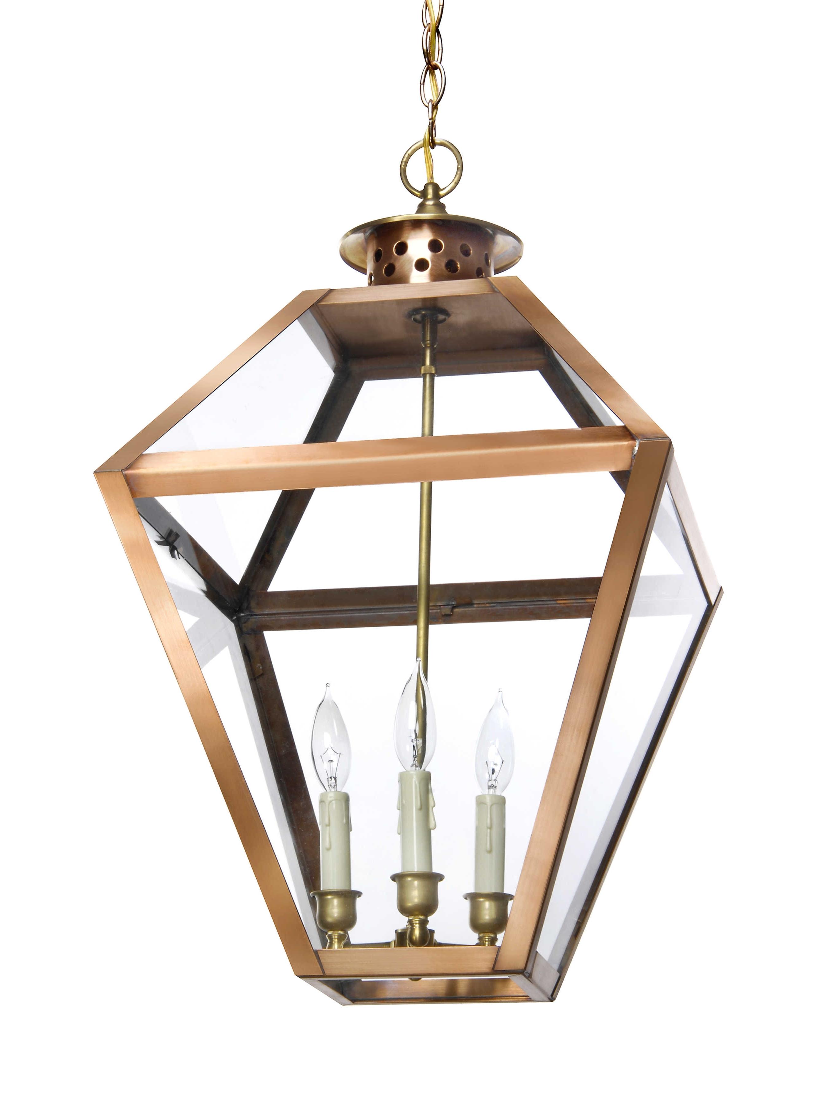Bs 16 Hanging Light, Copper Lantern, Gas And Electric Lighting Regarding Popular Electric Outdoor Hanging Lanterns (View 3 of 20)