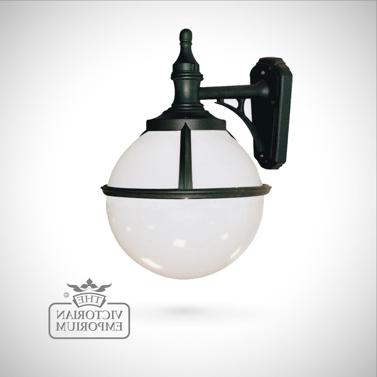 Buy Globe Wall Lantern, Outdoor Wall Lights – Spherical Black Wall In Recent Tesco Outdoor Wall Lighting (View 3 of 20)