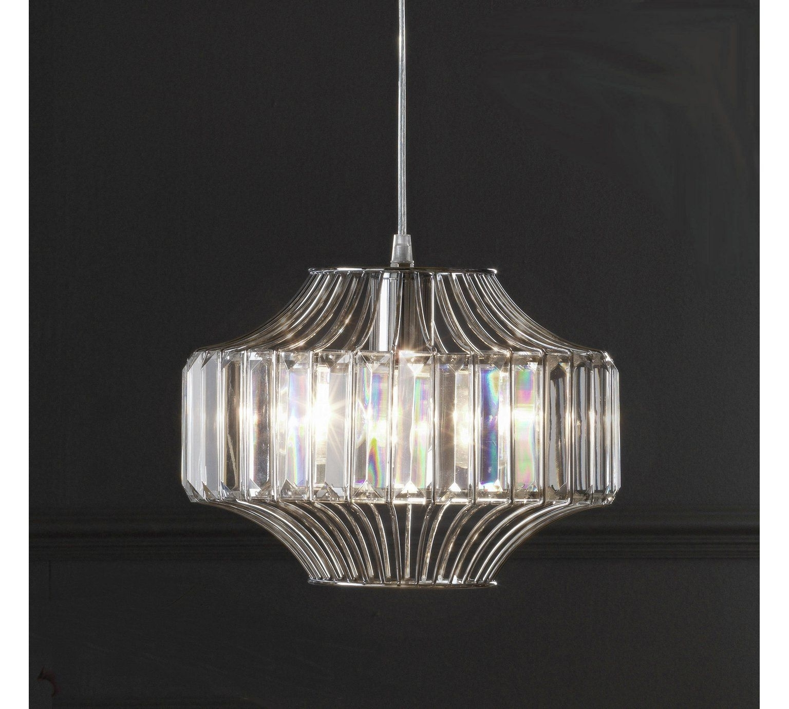 Buy Heart Of House Vienna Glass/chrome Beaded Wire Pendant Light At Inside Latest Argos Outdoor Wall Lighting (View 18 of 20)