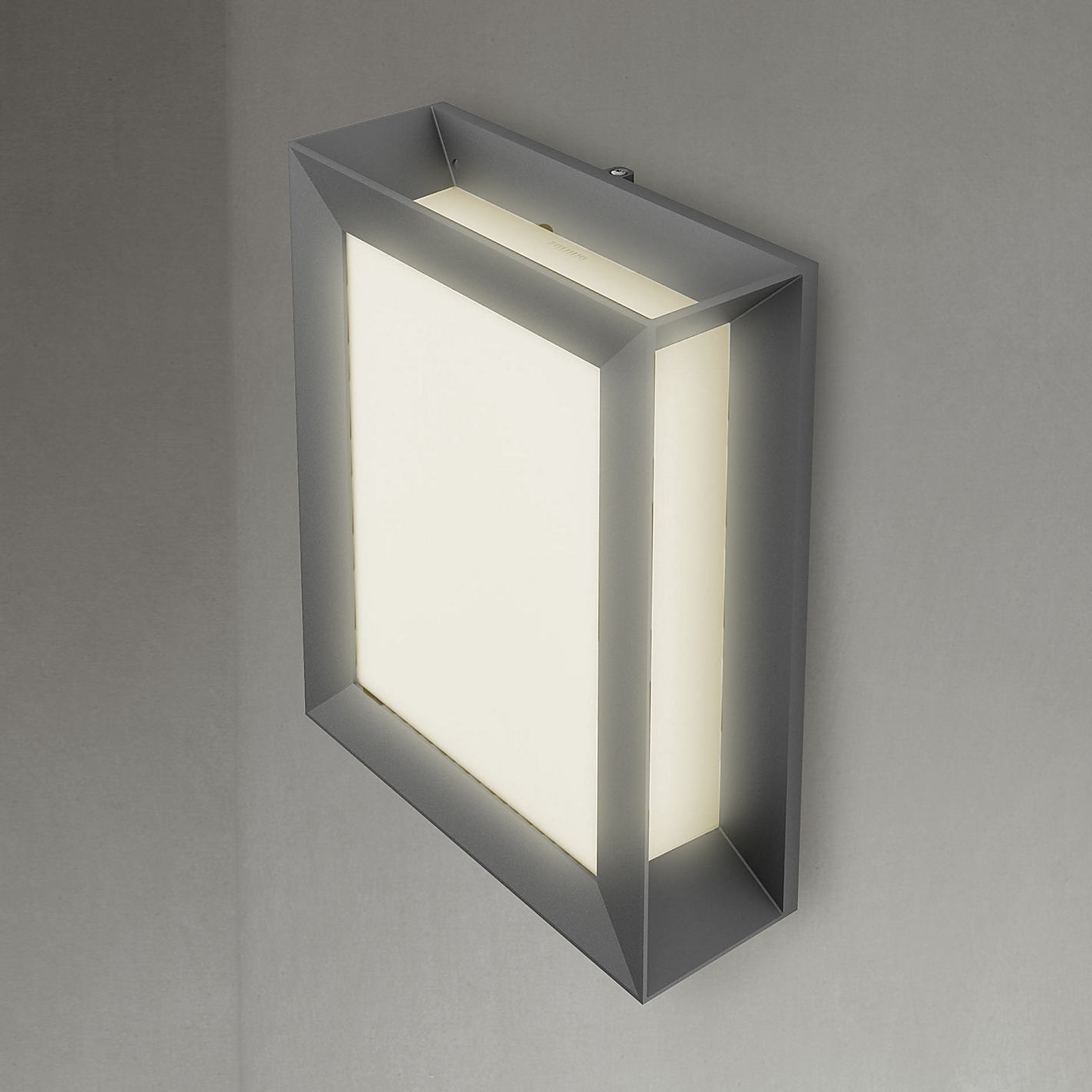 Buy Philips Karp Led Outdoor Wall Light Anthracite John Lewis With Regard To Latest Small Outdoor Wall Lights (View 3 of 20)