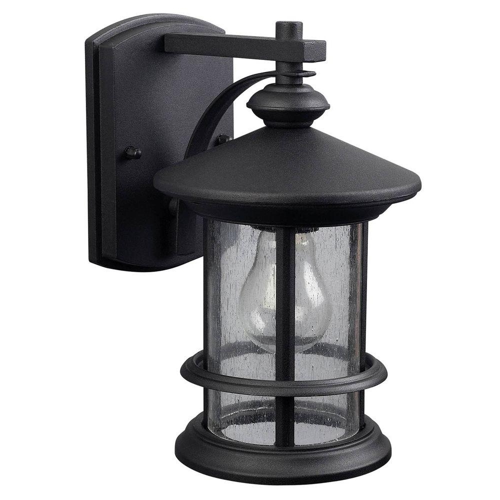 Canarm Ryder 1 Light Black Outdoor Wall Lantern With Seeded Glass Within Most Popular Patriot Lighting Outdoor Wall Lights (Gallery 5 of 20)