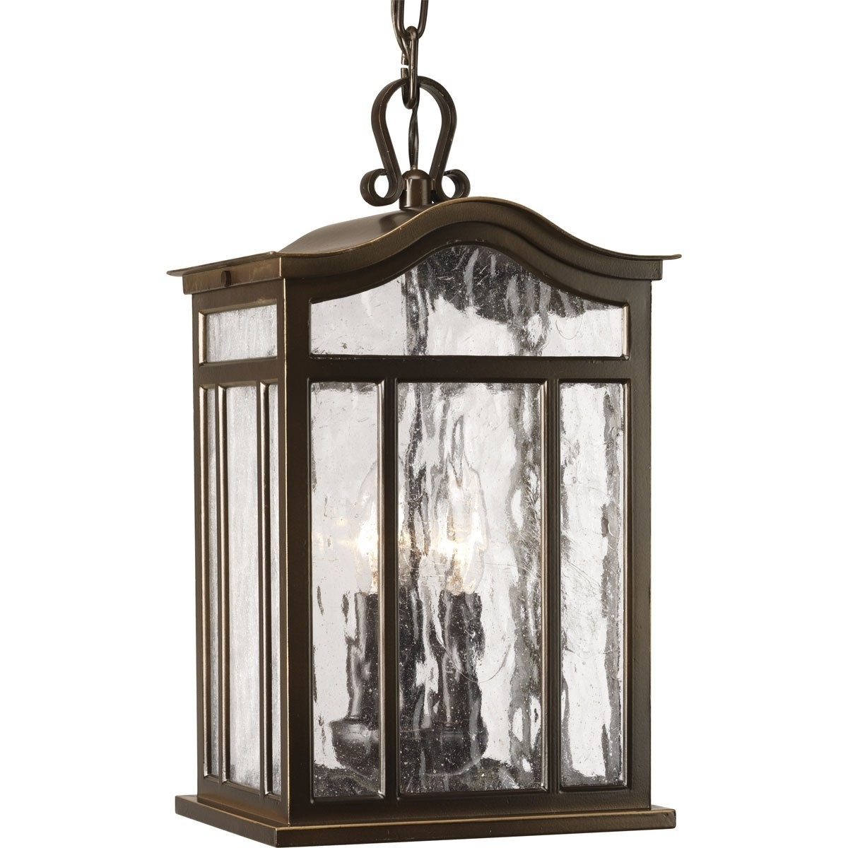 Casual European Style Three Light Outdoor Hanging Lantern – Progress With Regard To Most Recently Released Bronze Outdoor Hanging Lights (View 20 of 20)