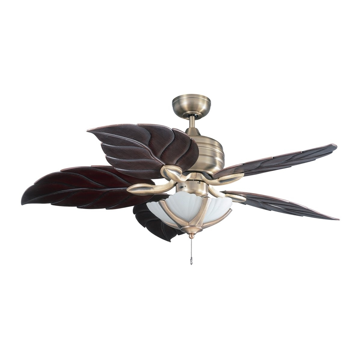 Ceiling Fans : Fancy Leaf Ceiling Fan With Light For Your Kit Baby Intended For Well Known Outdoor Ceiling Fans With Tropical Lights (Gallery 15 of 20)