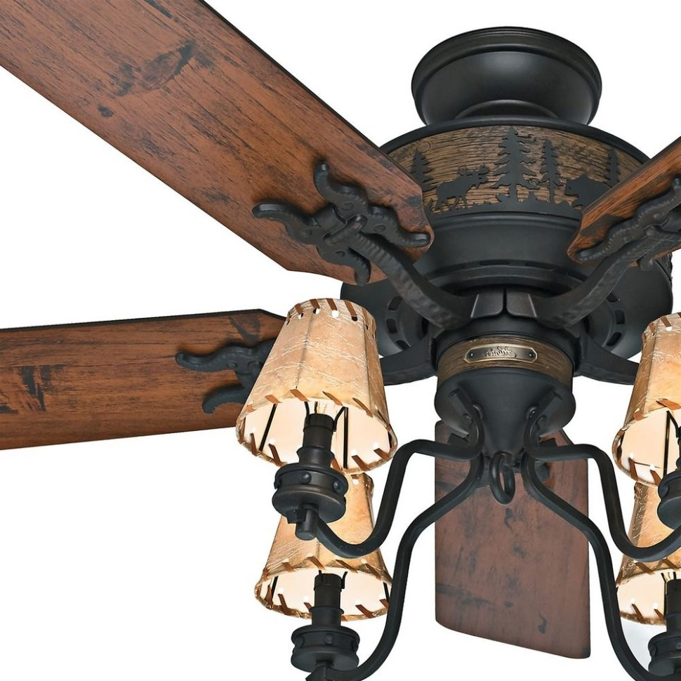 Ceiling Light : Rustic Ceiling Fans With Stars Rustic Ceiling Fans Throughout Preferred Outdoor Ceiling Fans With Lights At Ebay (Gallery 20 of 20)