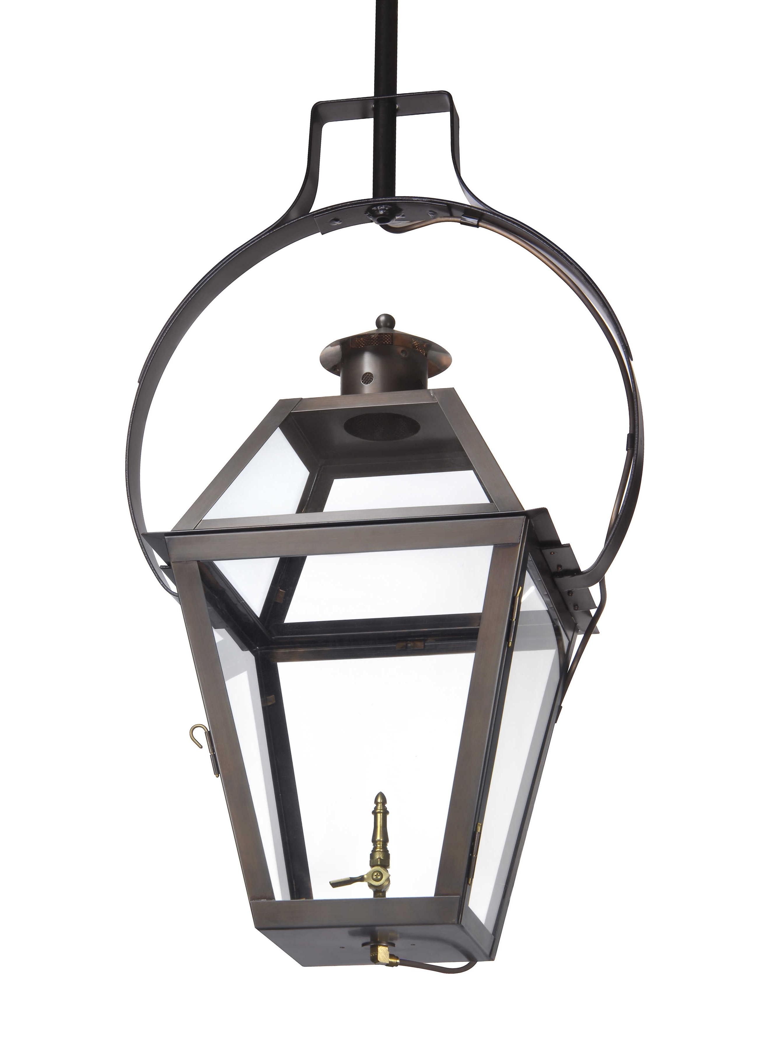 Ch 23 Hanging Yoke Light– Lantern & Scroll (View 12 of 20)