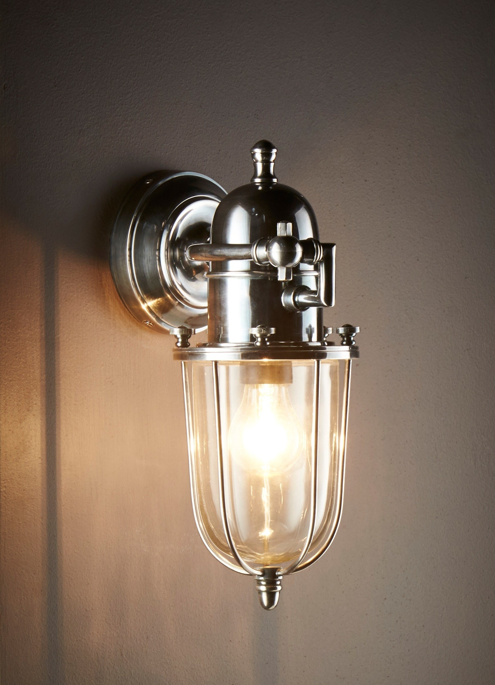 Chapel Wall Lamp Outdoor Silver – Emac & Lawton In Newest Silver Outdoor Wall Lights (View 15 of 20)