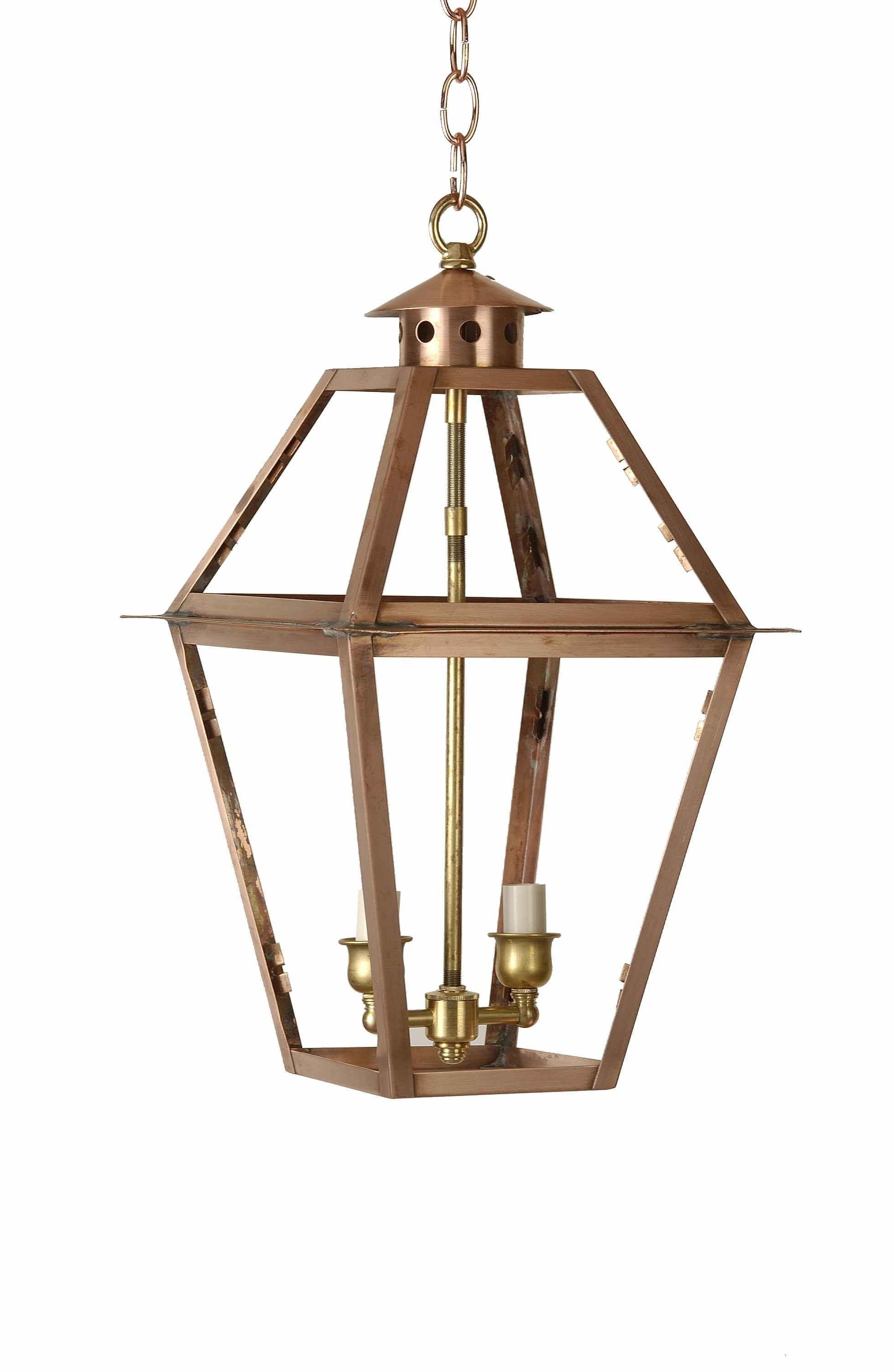 Charleston Chain Mount Outdoor Lantern – Copper Lighting Company Pertaining To Newest Outdoor Hanging Gas Lights (Gallery 20 of 20)