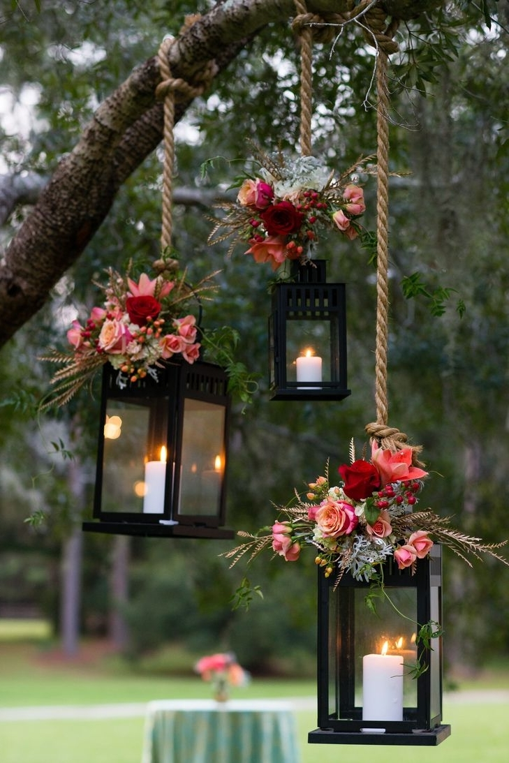 Featured Photo of Outdoor Hanging Lanterns For Wedding