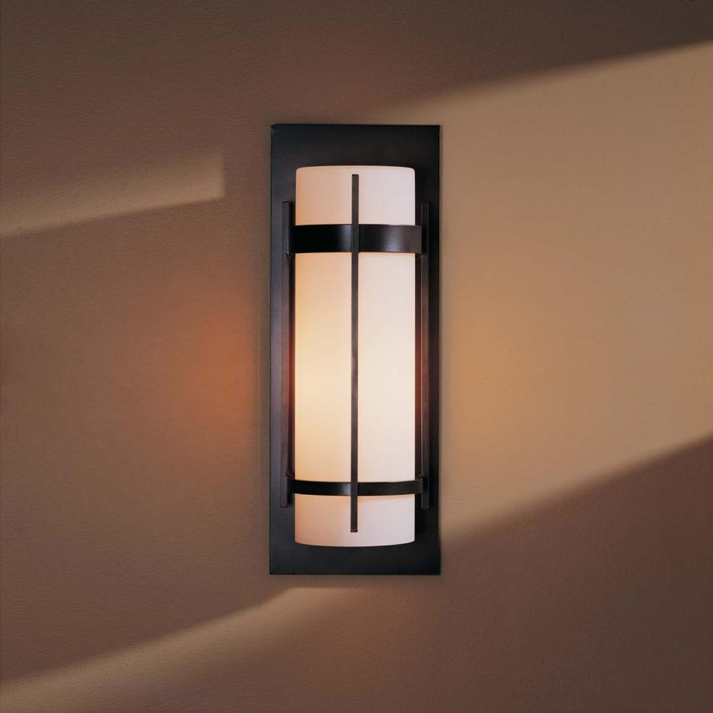 Cheap Outdoor Wall Lighting Fixtures Regarding Widely Used Hubbardton Forge 305894 Banded Led Outdoor Lighting Wall Sconce (View 9 of 20)