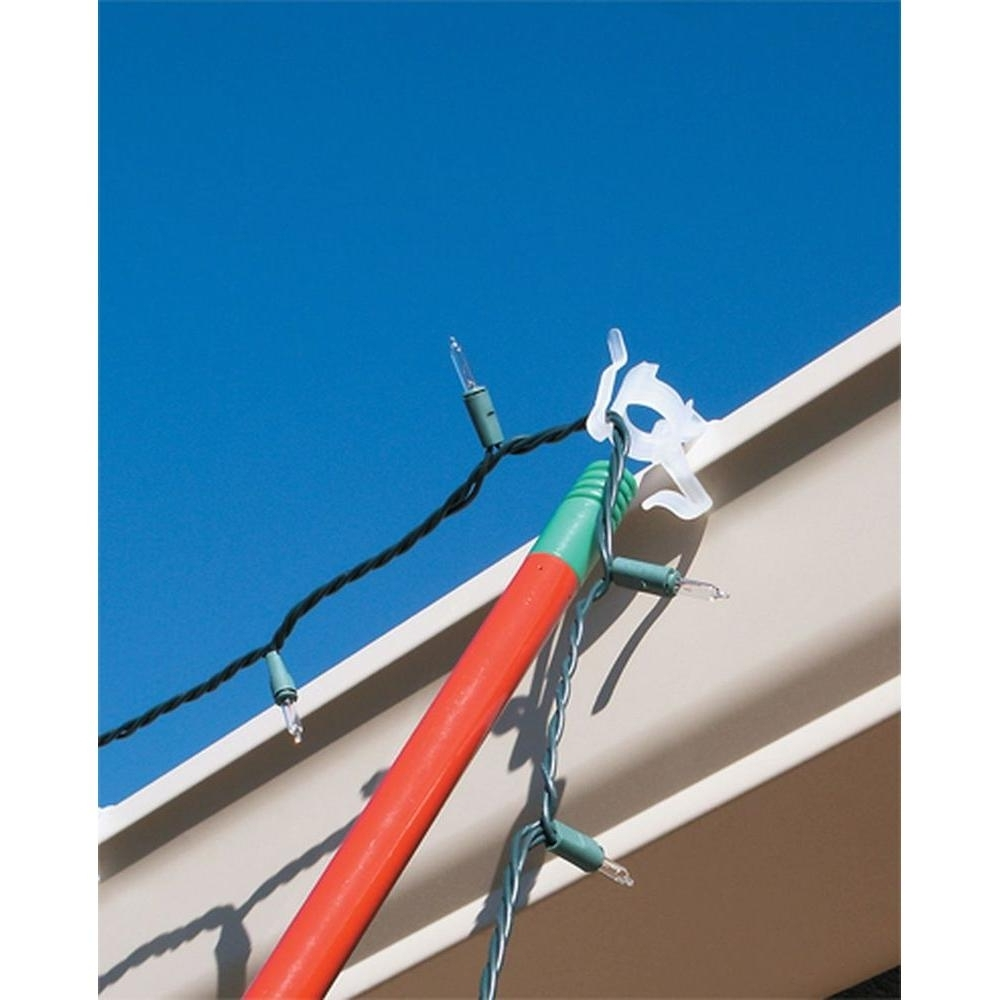Chic Design Christmas Lights Hangers For Gutter Guards Lowes Home Throughout Well Known Outdoor Lights Hanging Clips (View 6 of 20)