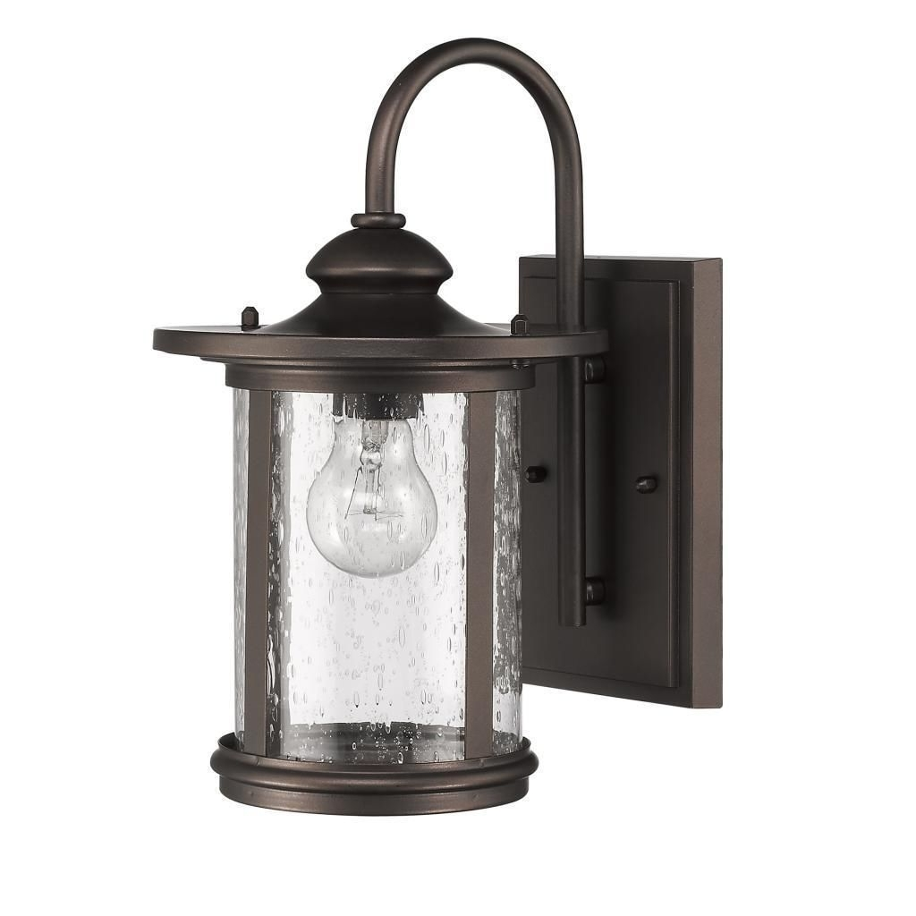 Chloe Transitional 1 Light Rubbed Bronze Outdoor Wall Light (Rubbed In Well Known Aluminum Outdoor Wall Lighting (View 12 of 20)