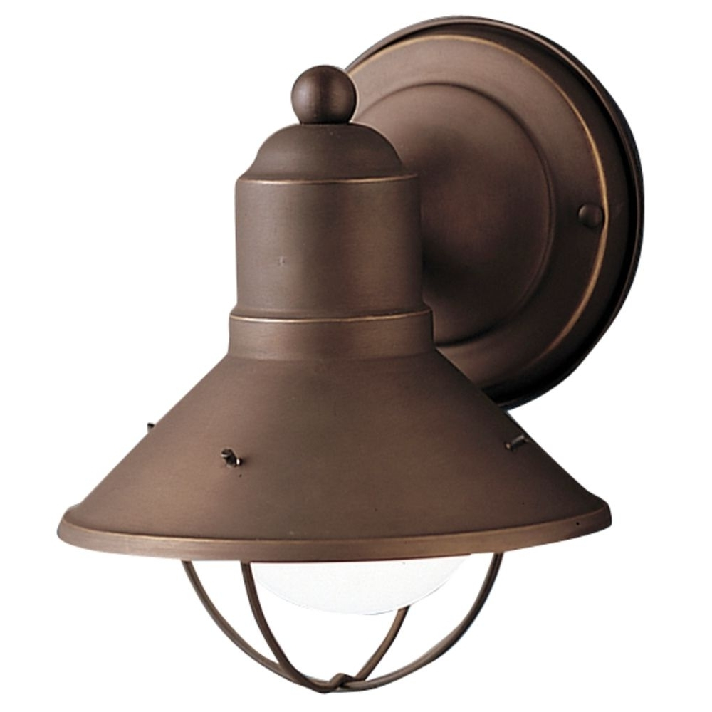 Coastal Outdoor Ceiling Lights In Best And Newest Kichler Nautical Outdoor Wall Light In Bronze Finish (Gallery 8 of 20)