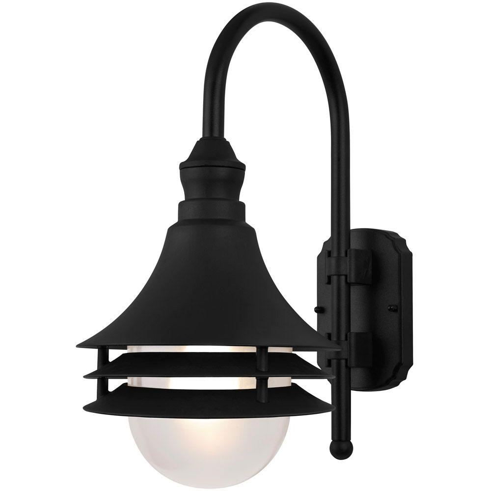 Coastal Outdoor Ceiling Lights With Regard To Famous Newport Coastal Black Outdoor Batten Nautical Exterior Light 7972 (Gallery 18 of 20)