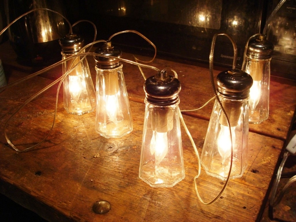 Commercial Grade Outdoor Hanging Lights Throughout Best And Newest Outdoor : Unique Led Mason Jar Solar Light Perfect Hanging Lamp Idea (View 7 of 20)